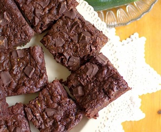 Nutella Stuffed Chocolate Courgette Brownies