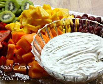 Coconut Cream Fruit Dip