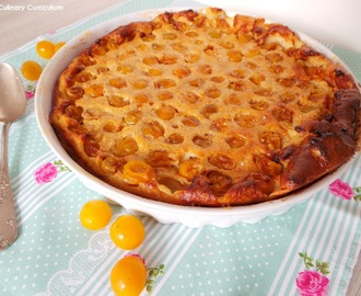 Clafoutis aux mirabelles (Clafoutis with mirabelle plums)