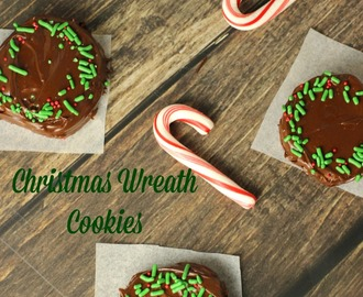 Christmas Wreath Peppermint Chocolate Cookies