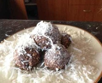 Chocolate & coconut balls.