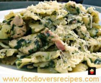CHICKEN BACON AND SPINACH PASTA