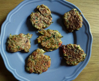 Spiced courgette fritters