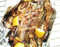 Oven-Grilled Whole Sea Bass with Lemon 柠檬烤鲈鱼