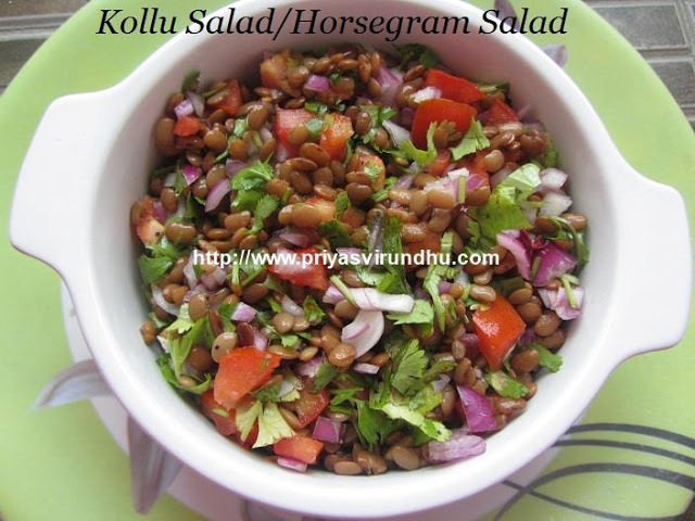 Horsegram Salad/Kollu Salad/கொள்ளு கலவை/Diabetic Friendly Recipe/Weight Loss Recipe/Diet Friendly Recipe
