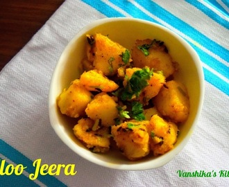 Aloo Jeera | Jeera Aloo | Cumin Potato Stir Fry (with step by step pictures)