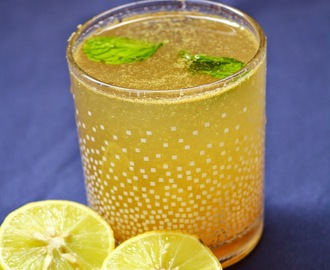 Shikanji or Shikanjvi recipe - how to make shikanji - nimbu pani recipe - Indian lemonade