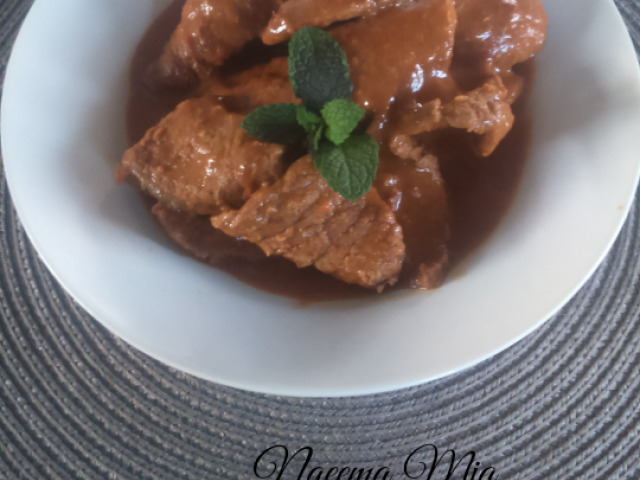 Saucy masala steak - my recipe
