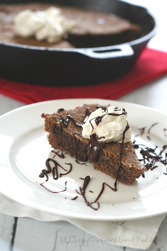Skillet Gingerbread Chocolate Chip Cookie