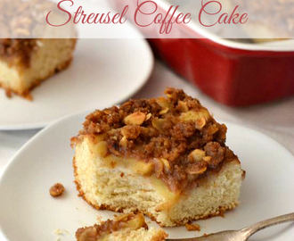 Apple Cinnamon Streusel Coffee Cake #FleischmannsYeast