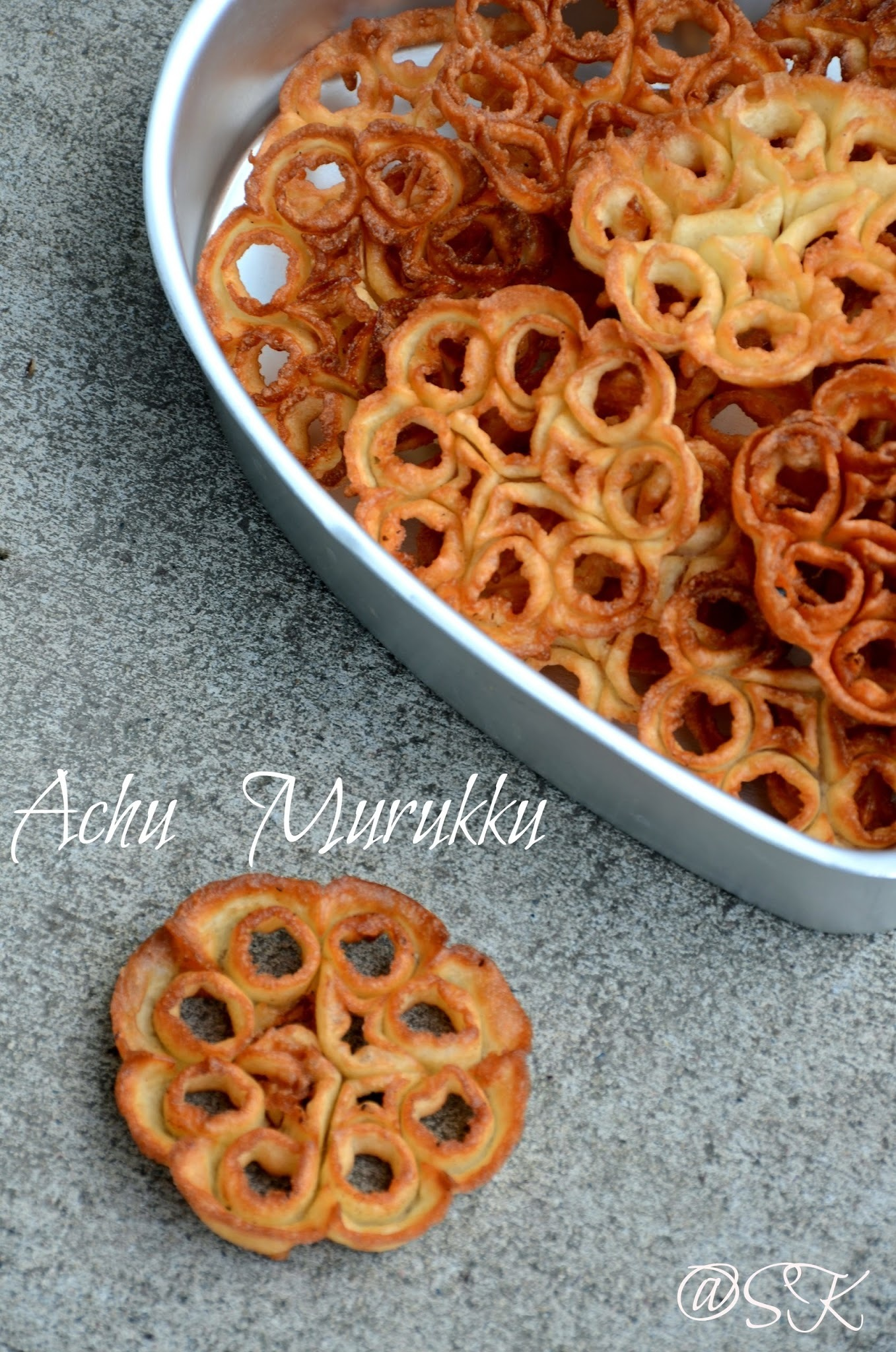 Rose Cookies - Achappam - அச்சு முறுக்கு - Christmas Recipes - Step by Step