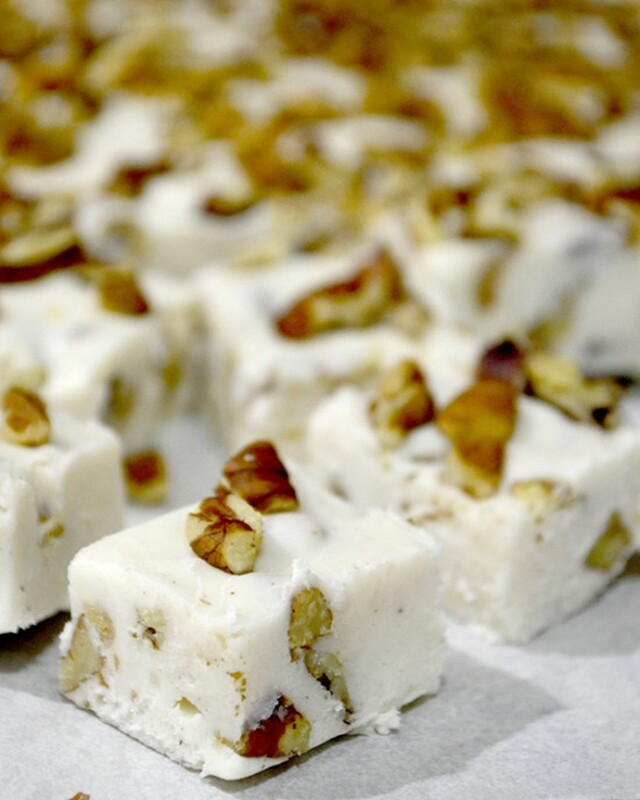 Eggnog Fudge~Day 6 of 12 Days of Christmas Candy