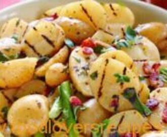GRILLED POTATO SALAD WITH BACON VINAIGRETTE