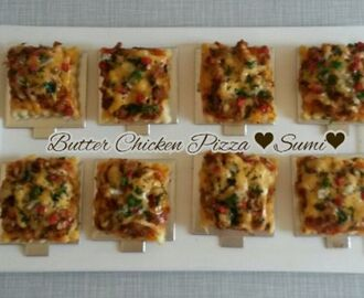 Butter. chicken pizza