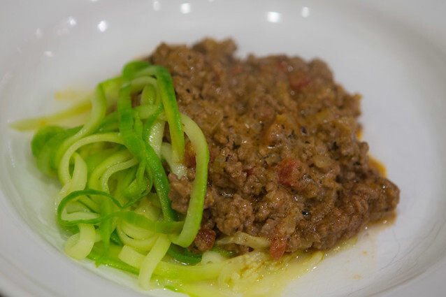 Vegetti and Meat sauce