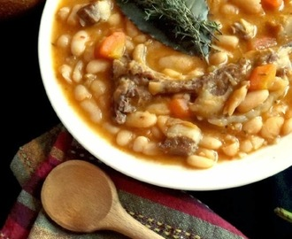 Loubia b'lham |  Algerian White Bean Stew With Lamb