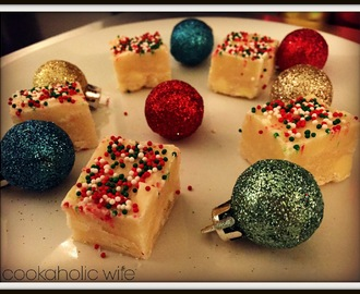 Microwave Sugar Cookie Fudge