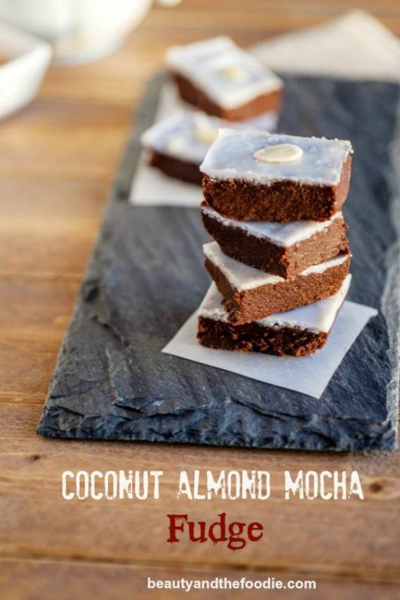 Coconut Almond Mocha Fudge