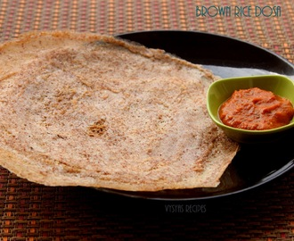 Brown Rice Dosa - Crispy Brown Rice Dosa