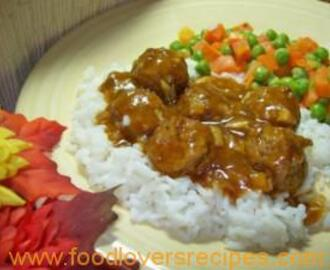 QUICK AND EASY MEATBALLS AND GRAVY