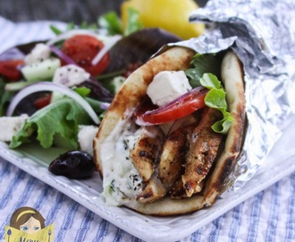 Yogurt Marinated Greek-Style Chicken Gyros