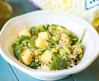 Sweet Chili Lime Rice Bowl with Mango and Edamame