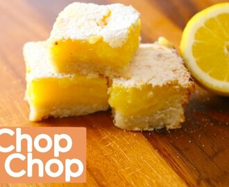 Lemon Bars with Shortbread Crust | Chop Chop