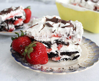 Strawberry Nutella Icebox Cake