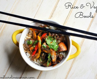 Rice & Veggie Bowls (Tigelas com Arroz & Vegetais)