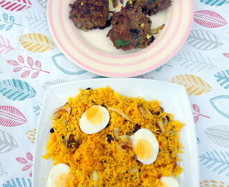 Spicy Beef Patties with Briani Celebration Rice