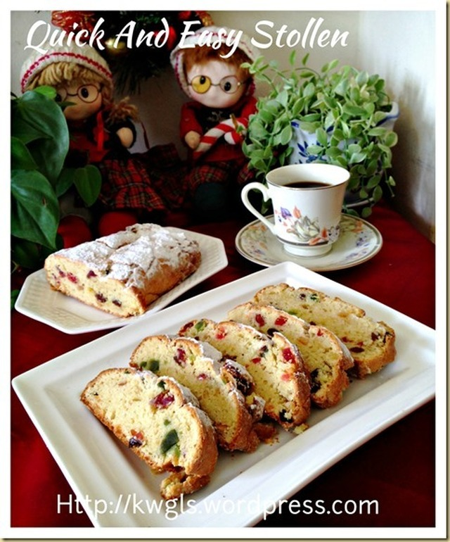 Your Stollen is stolen? Quick And Easy Yeast Free Stollen (德国圣诞面包 – 史多伦)