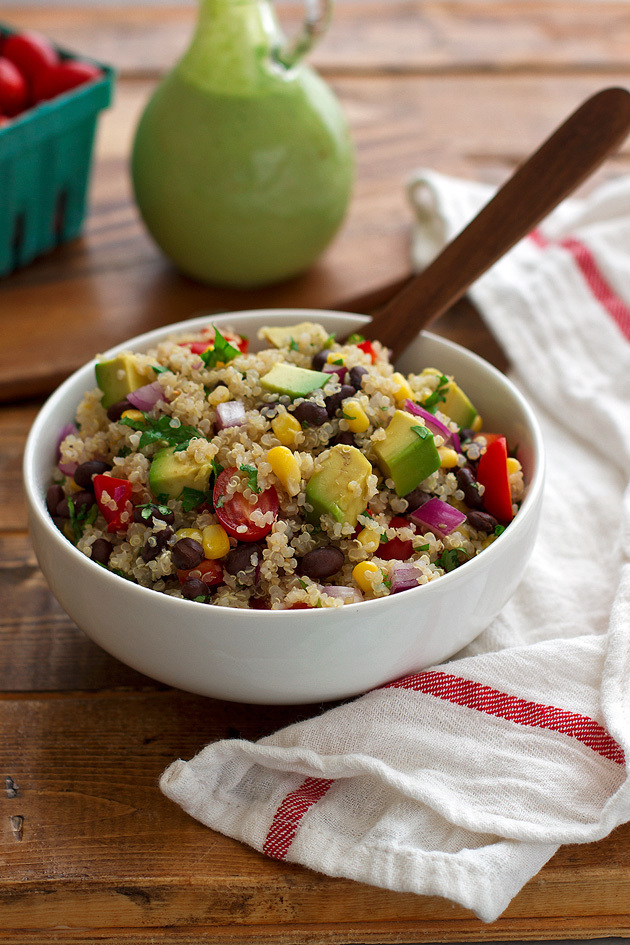 SOUTHWESTERN QUINOA AND BLACK BEAN SALAD + VACATION PICS