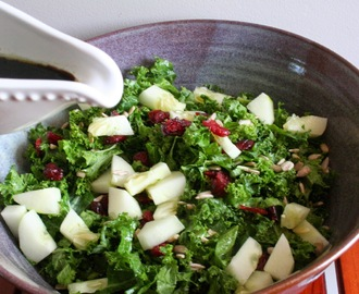 Shredded Kale Salad with Maple Balsamic Dressing  (Dairy, Gluten and MSG Free)