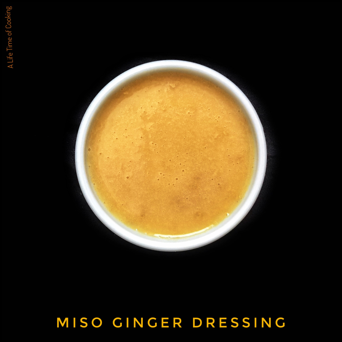Miso and Ginger Dressing