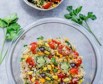 Mexican Quinoa Salad with Corn & Zucchini