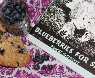 Books to Belly; Blueberries for Sal & Whole Wheat Blueberry Scones