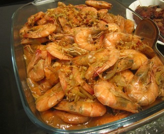 SHRIMP in ZESTO ORANGE and OYSTER SAUCE