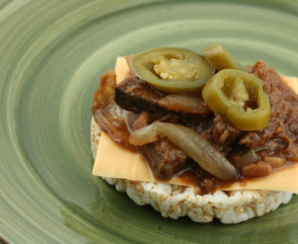 CrockPot Barbecue Beef and Bean Sandwiches