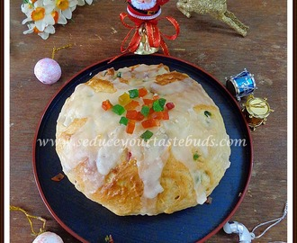 Eggless Julekake or Julekaga (Norwegian Cardamom Scented Christmas Bread) -We Knead To Bake #23