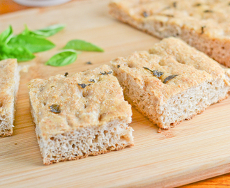 Whole Wheat Basil Focaccia Bread