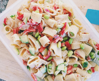 Fall Grilling & Feta Pasta Salad Recipe