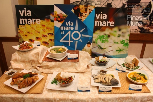 Via Mare Celebrates 40 Years of Filipino Fine Cuisine