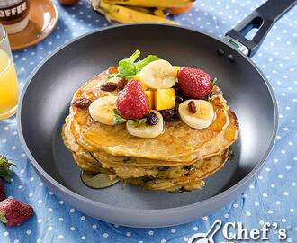 Banana and Oats Pancakes Recipe