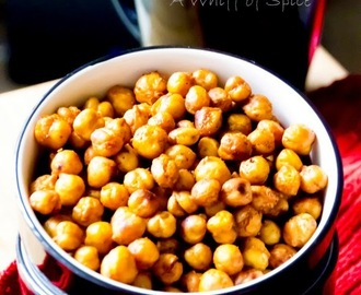 Chana Jor Garam - A Tangy Spicy Oven Roasted Crispy Chickpeas