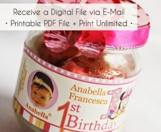 ♥ DIY Favor Ideas ~ Personalized Gerber Baby Jar or Mason Jar Labels by Kroma Design Studio