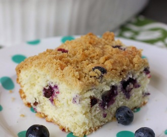 Blueberry Crumb Coffee Cake: August Mystery Dish & Giveaway!