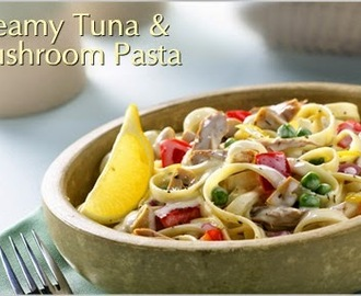 Creamy Tuna and Mashroom Pasta