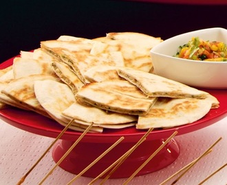 Crab Quesadilla with Mango Salsa