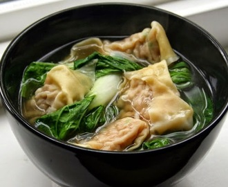 Wonton and Bok Choy Soup