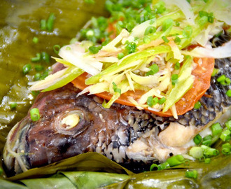 Steamed Tilapia in Banana Leaves Recipe
